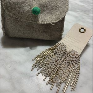 Anthropologie Dangle Earrings with Pouch